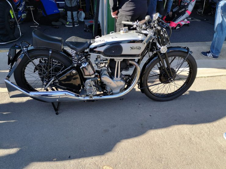 Restored Norton Motorcycle
